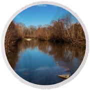 Ararat River Round Beach Towel by Randy Sylvia