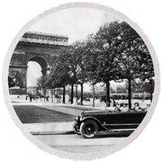 Arc De Triomphe De Letoile Round Beach Towel