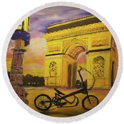 Arc De Triomphe Round Beach Towel
