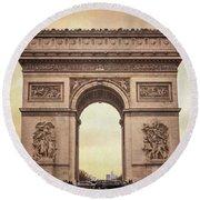 Arc De Triomphe Paris II Round Beach Towel