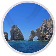 Arch At Cabo San Lucas Round Beach Towel