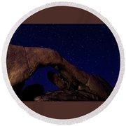 Arch Rock 2 Round Beach Towel by Ed Clark