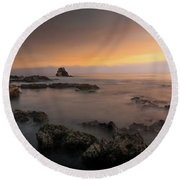 Arch Rock At Little Corona Round Beach Towel