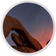 Arch Rock Sunset Round Beach Towel