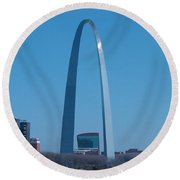 Round Beach Towel featuring the photograph Arch With Lumiere by J R Seymour