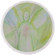 Archangel 2 Round Beach Towel