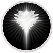 Archangel Cross Round Beach Towel