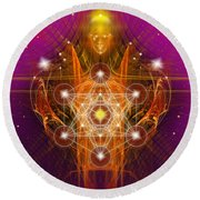 Archangel Metatron Round Beach Towel