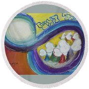 Archangels Round Beach Towel