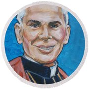 Archbishop Fulton J. Sheen Round Beach Towel