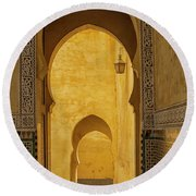 Arched Doors Round Beach Towel