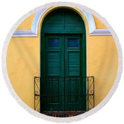 Arched Doorway Round Beach Towel