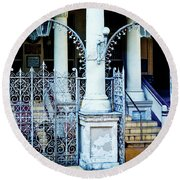 Arched Entrance In Mumbai Round Beach Towel by Marion McCristall