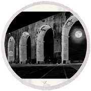 Arched Moon Round Beach Towel