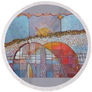Archeo Round Beach Towel