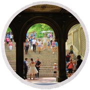 Arches Central Park Round Beach Towel