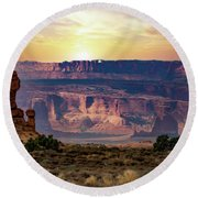 Arches National Park Canyon Round Beach Towel