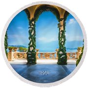 Arches Of Italy Round Beach Towel