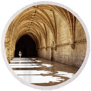 Arches Of Jeronimos Round Beach Towel by Marion McCristall