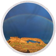 Arches Over The Arch Round Beach Towel