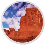 Round Beach Towel featuring the photograph Arches Pano by Norman Hall
