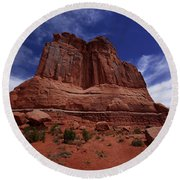 Arches Scene 2 Round Beach Towel