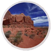 Arches Scene1 Round Beach Towel