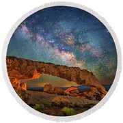 Arching Over The Arch Round Beach Towel