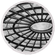 Architecture Bw 8x12 Round Beach Towel