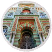 Architecture Of Odessa 3 Round Beach Towel
