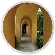 Round Beach Towel featuring the photograph Archway by Gary Wonning