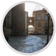 Archway In Stockholm Round Beach Towel