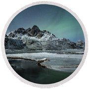 Arctic Night II Round Beach Towel