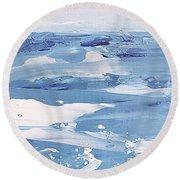 Arctic Ocean Round Beach Towel