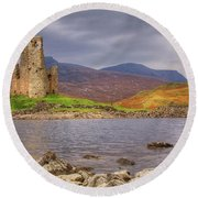 Ardvreck Castle Round Beach Towel