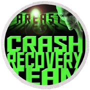 Area 51 Crash Recovery Team Round Beach Towel