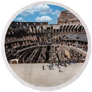 Arena Of Death And Glory Round Beach Towel