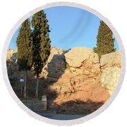 Areopagus Round Beach Towel