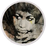 Aretha Franklin - Don't Play That Song For Me  Round Beach Towel