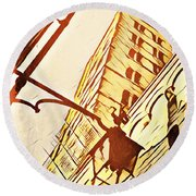 Arezzo's Tower Round Beach Towel
