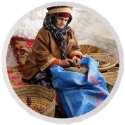 Round Beach Towel featuring the photograph Argan Oil 3 by Andrew Fare