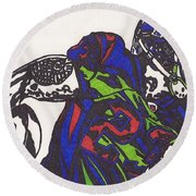 Arian Foster 1 Round Beach Towel by Jeremiah Colley