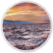 Arid Delight Round Beach Towel