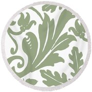 Arielle Olive Round Beach Towel by Mindy Sommers