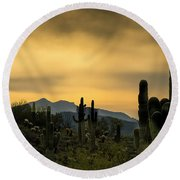 Arizona And The Sonoran Desert Round Beach Towel