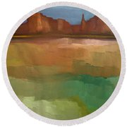 Arizona Calm Round Beach Towel