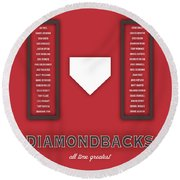 Arizona Diamondbacks Art - Mlb Baseball Wall Print Round Beach Towel