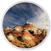 Round Beach Towel featuring the photograph Arizona North Coyote Buttes by Bob Christopher