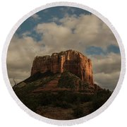 Arizona Red Rocks Sedona 0222 Round Beach Towel