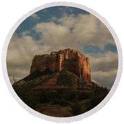 Arizona Red Rocks Sedona 0222 Round Beach Towel by David Haskett